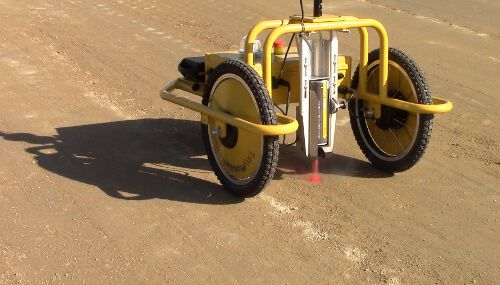 Autonomous surveyor robot for stake-out, as-built surveys and road premarkings
