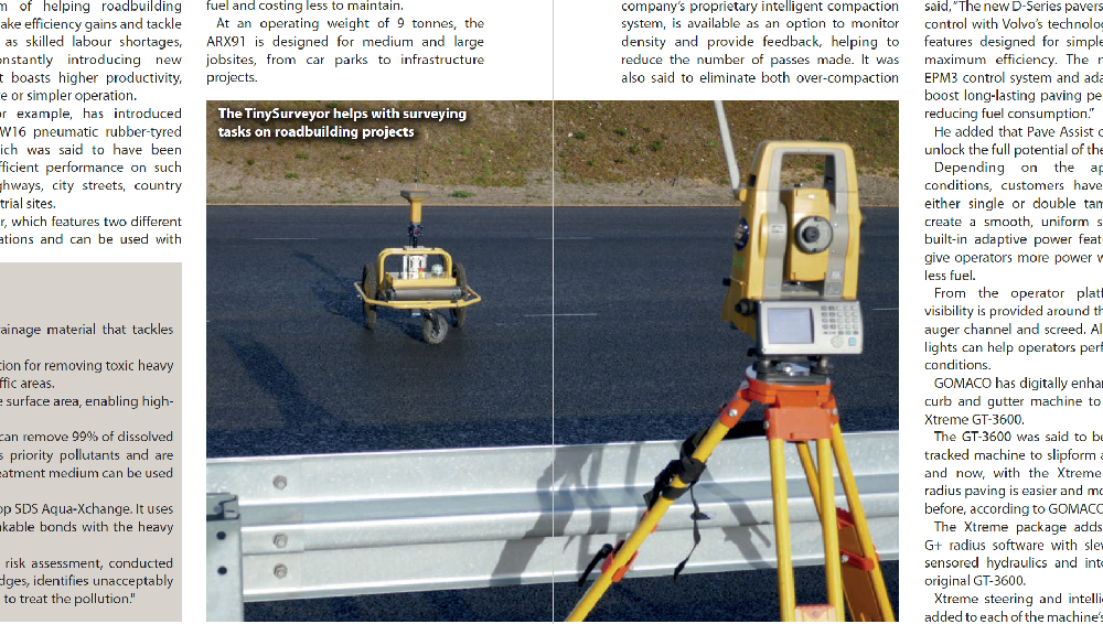 TinySurveyor Robot Feature in Construction Europe