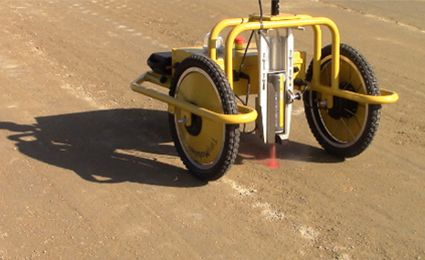 Autonomous premarking robot marks points and lines