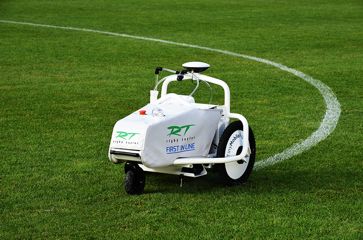 TinyLineMarker robotic sports line marking Rigby Taylor