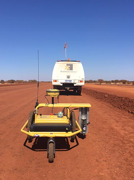 Benchmark Surveys Efficient line marking and setout