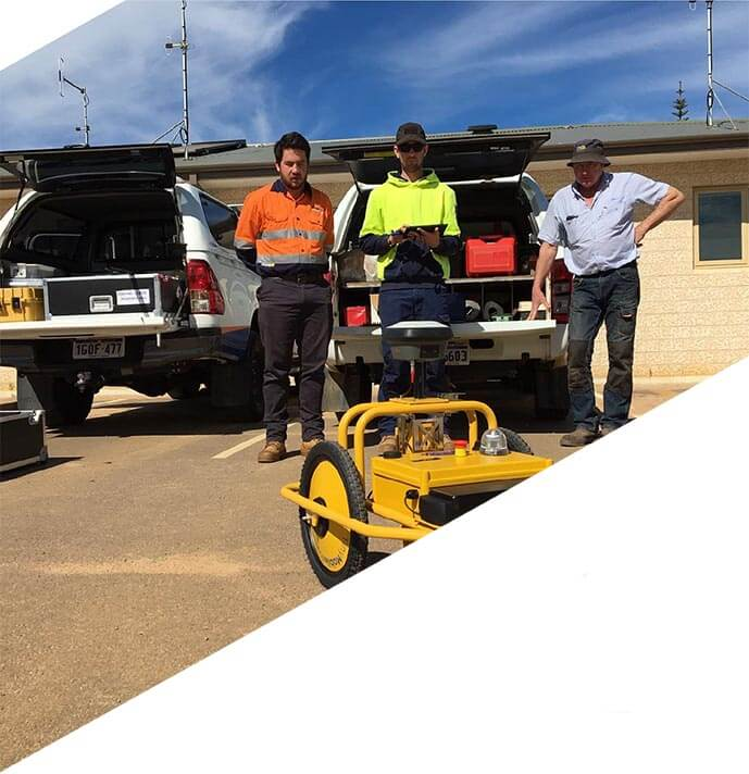 Efficient surveying and line marking