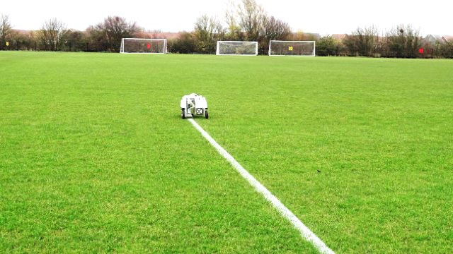 Field line marking robot for schools