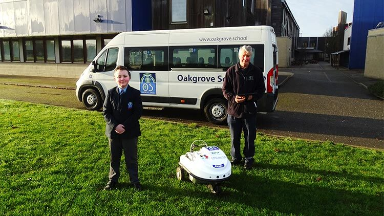 Field line marking robot for Oakgrave School