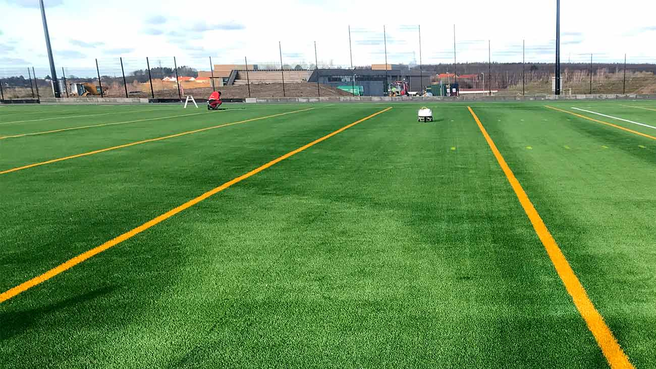 Artificial Sports Turf Field Marking for Soccer and American Football